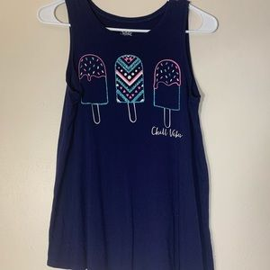 "Blue ""Chill Vibes"" Tank"